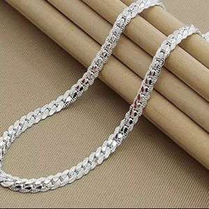 NEW* Men silver necklace shiny 925 link se…